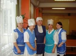 Кухонные работники школы № 12 г. Арзамас